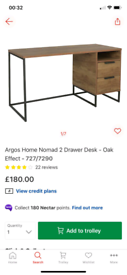 2 Drawer Desk Oak £100. Real Bargains Clearance Outlet Leicester City