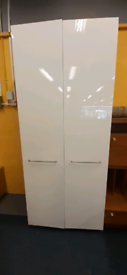 Large white gloss front IKEA wardrobe