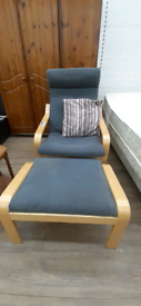 IKEA easy chair with foot stool