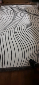Silver and black Rug BRAND NEW
