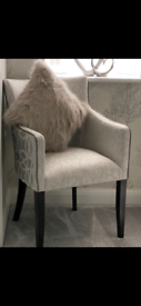 Chair in grey fabric
