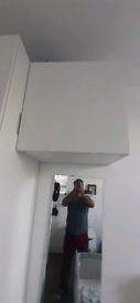 Two IKEA overhead drawers/cabinets/beside table/wardrobe