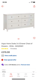 6 Drawers white wide chest £135. Real Bargains Clearance Outlet Leices