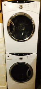 Stacking GE Front Loading Washer & Dryer