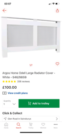 Odell Large Radiator Cover £65. Real Bargains Clearance Outlet Leicest
