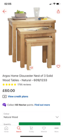 Nest of 3 Coffee Tables only £45. Real Bargains Clearance Outlet Leice