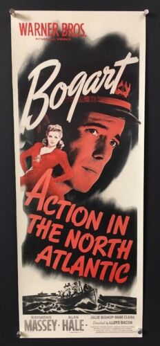 Action in the North Atlantic Movie Poster Insert - Bogart    *Hollywood Posters*