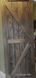 Rustic Sliding Barn Door Handcrafted 30 x 80 Ready to Hang