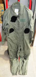 USAF Flyers Coveralls 40 Regular With Velcro Patches