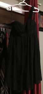 Beautiful Black one strap Aflred Angelio bridesmaid dress