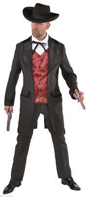 Cowboy Wilder Westen Saloon Lord Kostüm Anzug Herren Kartenspieler - Spieler Kostüm Weste