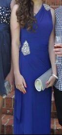 JS boutique prom dress blue size 6 (easily fit size 8)