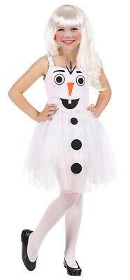 Süßes Schneemann Mädchen Kinderkostüm - Schnee Mädchen Kostüm