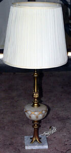 NEW PRICE - Tall Art Nouveau style table lamp