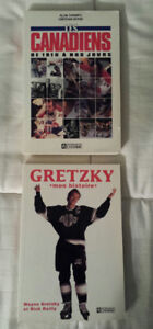7 LIVRE DE HOCKEY- Gretzky - Canadien- Beckett etc. carte hockey