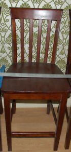 Solid wood bar/high dining chair