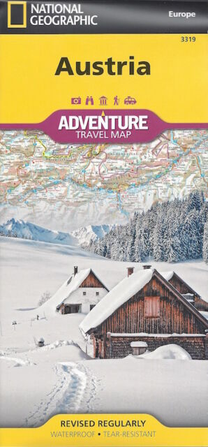 National Geographic Austria Travel Map *IN STOCK IN MELBOURNE - NEW*