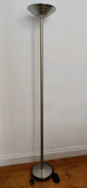 Silver indoor uplight floor lamp (dimmable)
