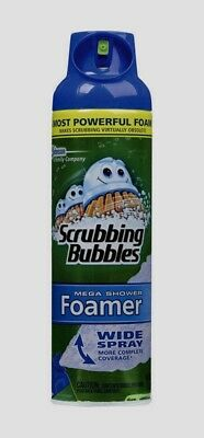 Foaming Toilet Bowl Cleaner - Scrubbing Bubbles MEGA SHOWER Foamer Bathroom Tub Cleaner 20 oz. Foam Wide Spray