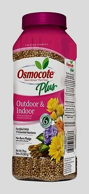 Outdoor Plant Food - OSMOCOTE PLUS Outdoor Indoor Plant Food Fertilizer Annuals Container Plants 2 lb