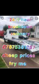 24/7 breakdown recovery