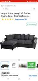 Argos L shaped sofa -left corner