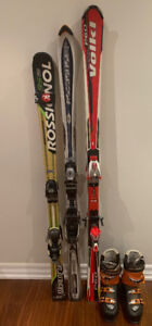 3 Ski sets and Boots