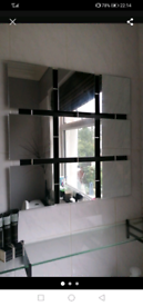 9 square frameless MIRROR - Ilford