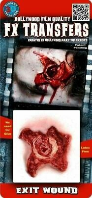 Tinsley Transfer Exit Wound Gunshot Halloween Gore 3-D Costume Makeup  - Gunshot Wound Halloween