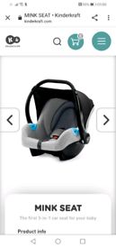 Baby car seat just £20