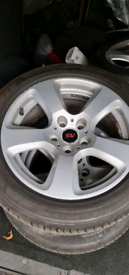 "Bmw 17"" Alloy Wheels And Tyers"