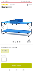 Hi gear camping bunk beds