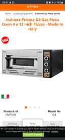 Italinox Prisma G4 Gas Pizza Oven 4 x 12 inch Pizzas