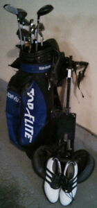 Set of men's left-handed Graphite Golf clubs w/bag access. extra