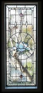 2 large stained glass panels