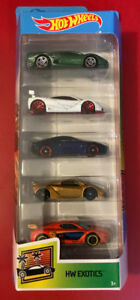 Hot Wheels Exotic 5 Pack, New Unopened.