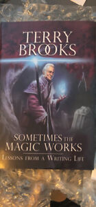 Terry brooks signed copy sometimes the magic works
