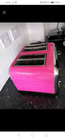 Pink four slice toaster