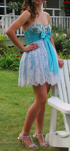 Blue & White Sherri Hill Prom/Grad dress