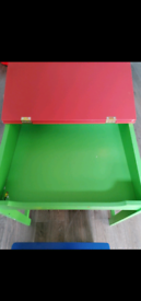 Kids study desk with stool and storage