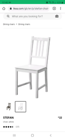 8 IKEA WOODEN CHAIRS
