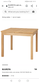 Ikea dining table, extendable