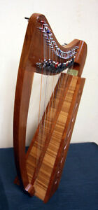 Handsome Celtic Irish 22 String Lap Harp SEE VIDEO
