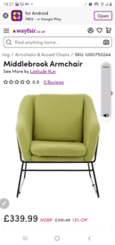Green chair - new with tags