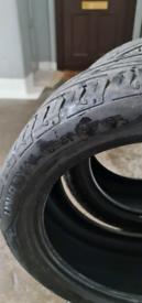 2 Uniroyal Rain Tyres 245 × 45 R18