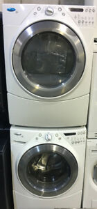 Whirlpool white front load washer & dryer PRICE $950