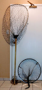 FISHING NETS. LARGE RETRACTABLE FOR SALMON & MUSKY. $60