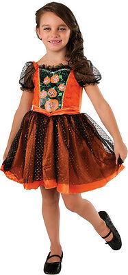 Light Up PUMPKIN PATCH Halloween Costume Dress Girl Child Medium 8 9 10 Age 5 7](Baby Light Up Halloween Costume)