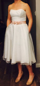 Gorgeous Tea Length Wedding Dress Size 10