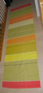 Long colorful cotton runner in excellent clean condition